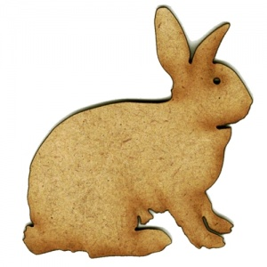 Sitting Rabbit MDF Wood Shape Style 1