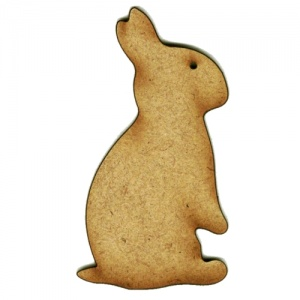 Peeping Rabbit MDF Wood Shape Style 6
