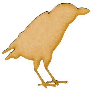 Raven MDF Wood Bird Shape