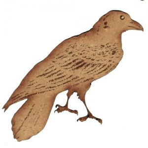 Engraved Raven  - MDF Wood Shape
