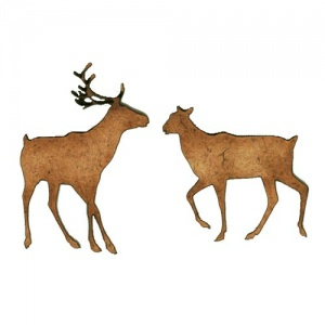 Reindeer Duo - MDF Wood Shape