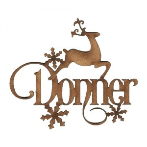 Donner - Decorative MDF Wood Words
