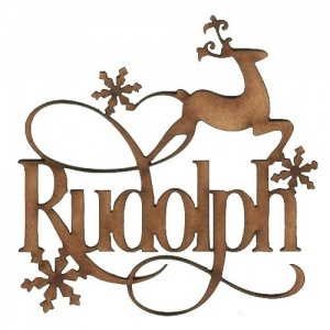 Rudolph - Decorative MDF Wood Words