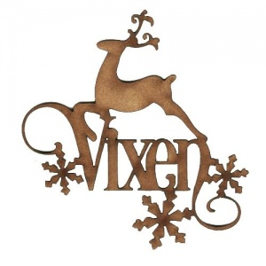 Vixen - Decorative MDF Wood Words