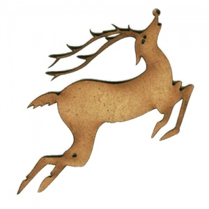 Leaping Reindeer - MDF Wood Shape