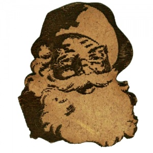Jolly Laughing Santa - MDF Wood Shape
