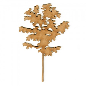 Tree Sapling MDF Wood Shape - Style 1