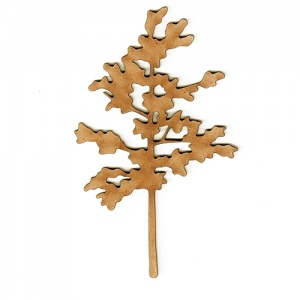 Tree Sapling MDF Wood Shape - Style 2