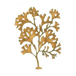 Stalked Leaf Bearer - MDF Seaweed Wood Shape Style 12