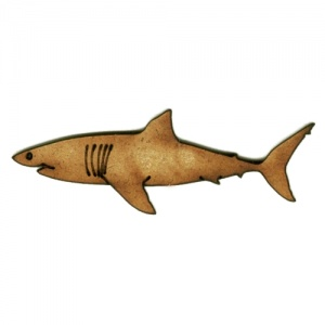 Salmon Shark MDF Wood Shape