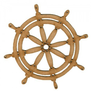 Ships Wheel MDF Wood Shape - Style 2