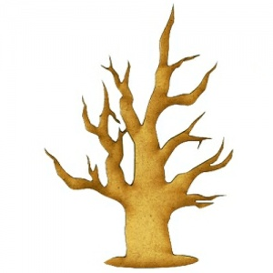 Skeleton Tree MDF Wood Shape - Style 6