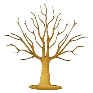Skeleton Tree MDF Wood Shape - Style 7