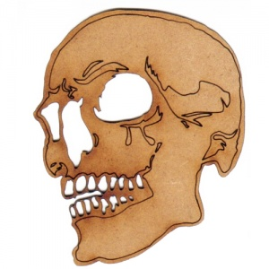 Skull with Teeth MDF Wood Shape