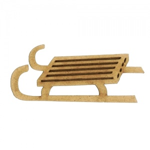 Slatted Sled - MDF Wood Shape Style 2