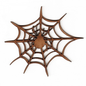 Spider and Web MDF Wood Shape