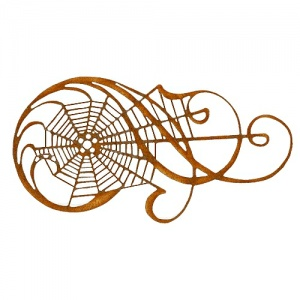 Spider Web Flourish MDF Wood Shape