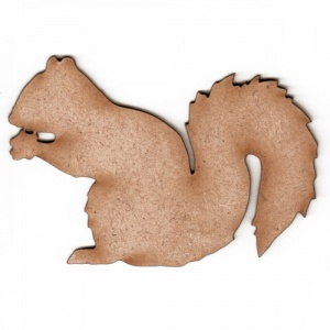Squirrel Silhouette - MDF Wood Shape Style 2