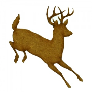 Dashing Buck - MDF Wood Shape