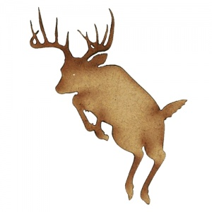 Leaping Stag MDF Wood Deer Shape Style 13
