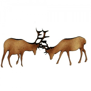 Rutting Stags MDF Wood Deer Shape Style 16