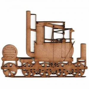 Steam Train MDF Wood Shape Style 5