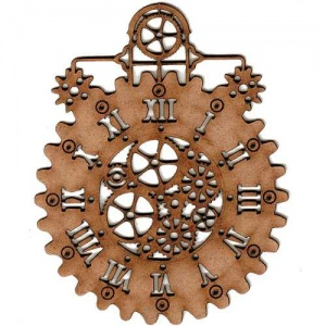 Steampunk Mechanical Clock MDF Wood Shape