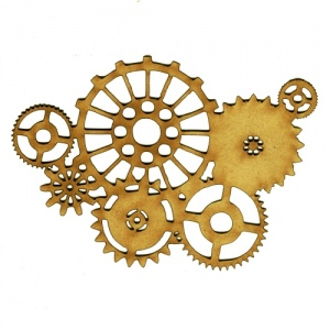 Steampunk Mechanical Cogs Motif Style 3