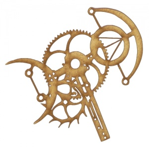 Steampunk Mechanical Clockworks Motif Style 6