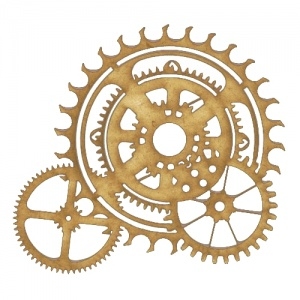 Steampunk Mechanical Cogs Motif Style 7