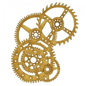Steampunk Mechanical Cogs Motif Style 8
