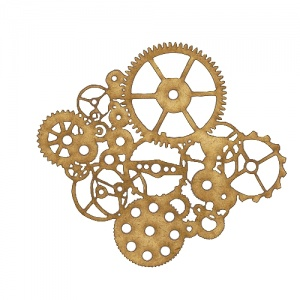 Steampunk Mechanical Cogs Motif Style 11