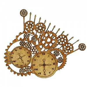 Steampunk Mechanical Clockworks Motif Style 14