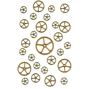 Sheet of Mini MDF Wood Cogs - Style 1