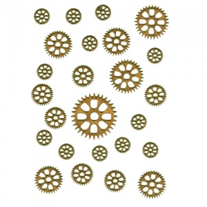 Sheet of Mini MDF Wood Cogs - Style 10