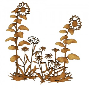 Wild Flowers & Sunflowers Patch MDF Wood Shape