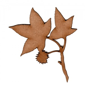 Sweetgum Leaf & Twig - MDF Wood Shape