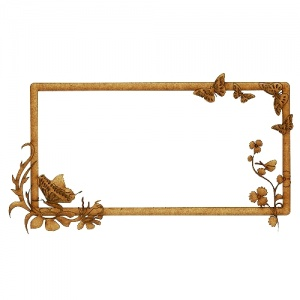 MDF Printer's Tray Frame - Butterfly Garden