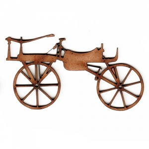 Vintage Bicycle MDF Wood Shape Style 2