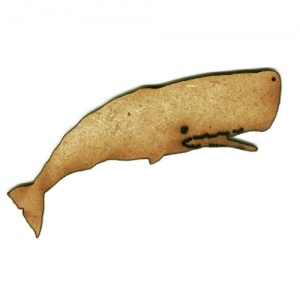 Sperm Whale MDF Wood Shape