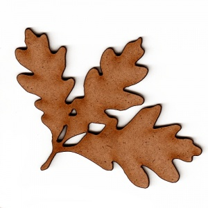 White Oak Leaf & Twig - MDF Wood Shape