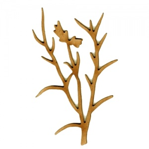 Tall Wildflower MDF Wood Shape