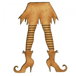 Witch's Stripy Legs MDF Wood Shape