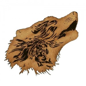 Howling Wolf Head MDF Wood Shape