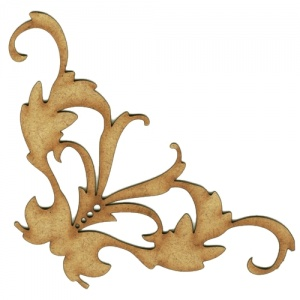 Baroque Flourish MDF Wood Corner Embellishment - Style 32