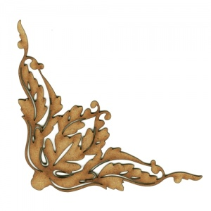 Baroque Leaves MDF Wood Corner Embellishment - Style 34