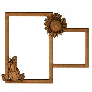 Autumn Multi Frame - Pumpkin Pile & Sunflower Blossom