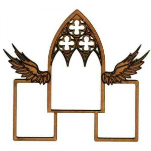 Christmas Multi Frame - Winged Gothic Window