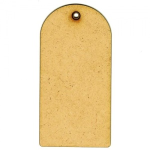 MDF Tag Shape - Round Top