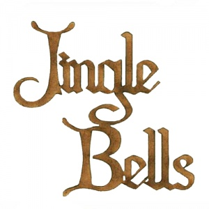 Jingle Bells - Wood Words in Christmas Card Font
